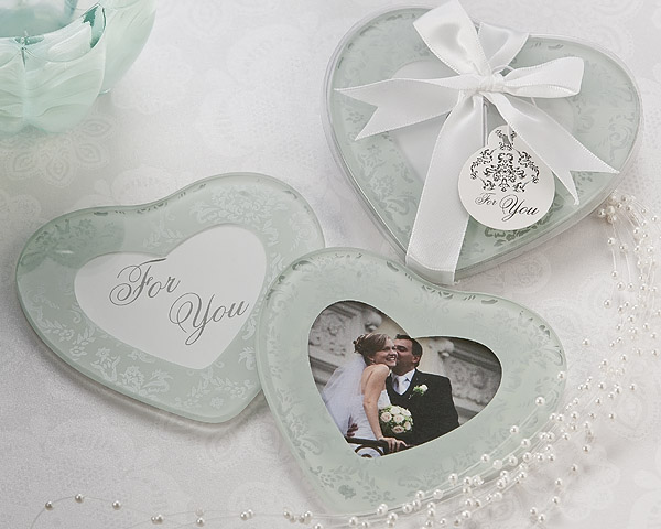 Heart Photo Coaster Favors by Artisano designs