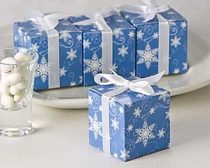 Winter Wishes Snowflake Favor Boxes
