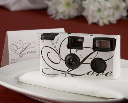 Love Disposable Wedding Camera in White
