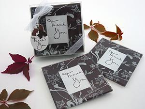 Fall Leaf Coaster Favors - Set of 2