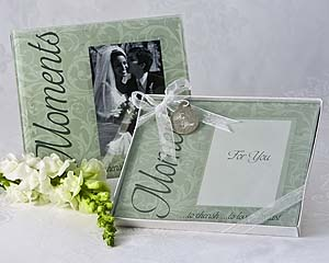 """Moments..."" Frosted Glass Picture Frame Favours"