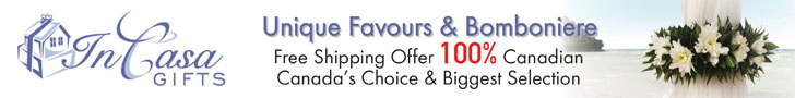 In Casa Gifts for Wedding Favours and Decorations Canada